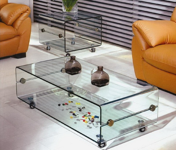 Marvelous Coffee Table On Casters Move It Anytime Homesfeed Well With Regard To Glass  Coffee Tables With