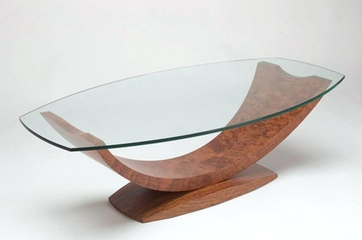 Coffee Table Pierre Guariche Unique Ash And Glass Coffee Table perfectly within Unique Twister Glass Coffee Table (Image 4 of 30)