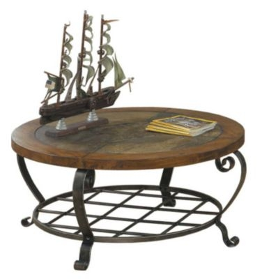 Coffee Table Round Oak Coffee Table Gallery Round Slate Coffee nicely within Round Slate Top Coffee Tables (Image 11 of 20)