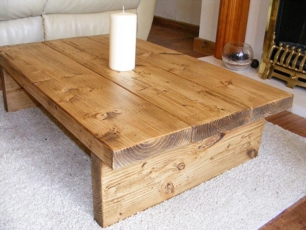 Coffee Table Rustic Chunkyhandmadesolid Wood In Home Furniture Definitely Regarding Coffee Tables Solid Wood (View 9 of 20)