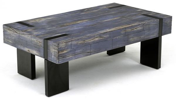 Coffee Table Urban Coffee Table Blue Rustic Meets Modern Coffee nicely for Blue Coffee Tables (Image 14 of 20)