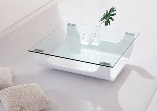 Coffee Table White Glass Coffee Table White Wood Coffee Table properly with Unusual Glass Top Coffee Tables (Image 10 of 30)