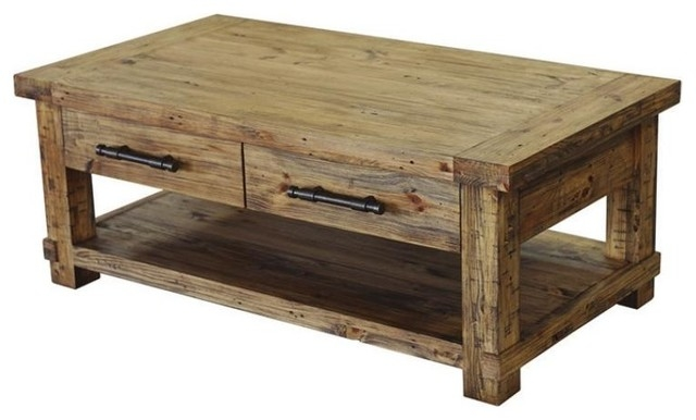 Coffee Table With Magazine Shelf Pine Wood With Weathered Pine Definitely Within Pine Coffee Tables (View 5 of 20)