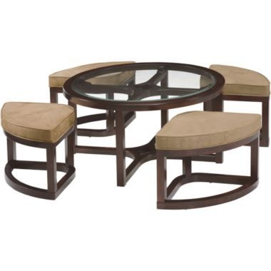 Coffee Table With Stools Aralsa properly intended for Coffee Tables With Nesting Stools (Image 10 of 20)
