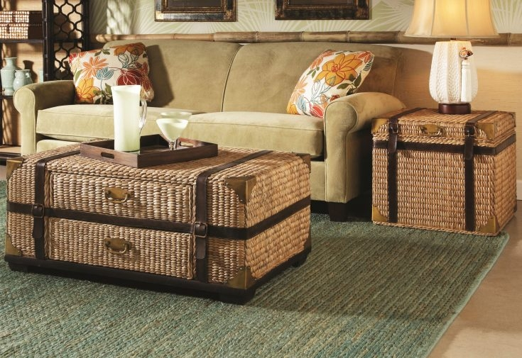 20 best ideas of coffee table with wicker basket storage Coffee table with wicker baskets