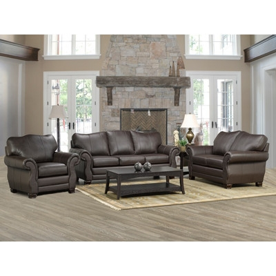Coja Huntington Italian Leather Sofa Loveseat And Chair Set nicely regarding Sofa Loveseat And Chairs (Image 11 of 20)