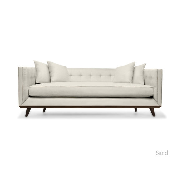 Colin Tufted Linen Sofa South Cone Home Furniture definitely pertaining to Tufted Linen Sofas (Image 8 of 20)