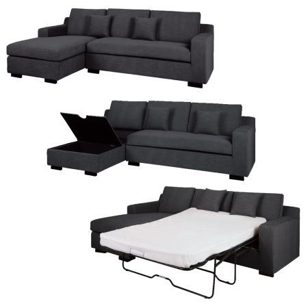 Collection In Leather Sofa Bed With Storage Black Faux Leather perfectly regarding Leather Sofa Beds With Storage (Image 5 of 20)