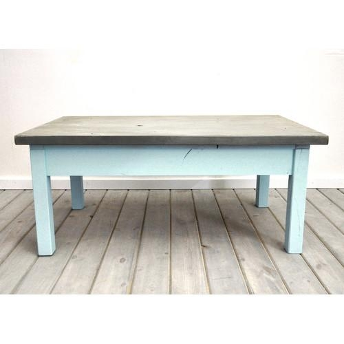 Collections Coastal Silver And Blue Coffee Table clearly with regard to Blue Coffee Tables (Image 15 of 20)