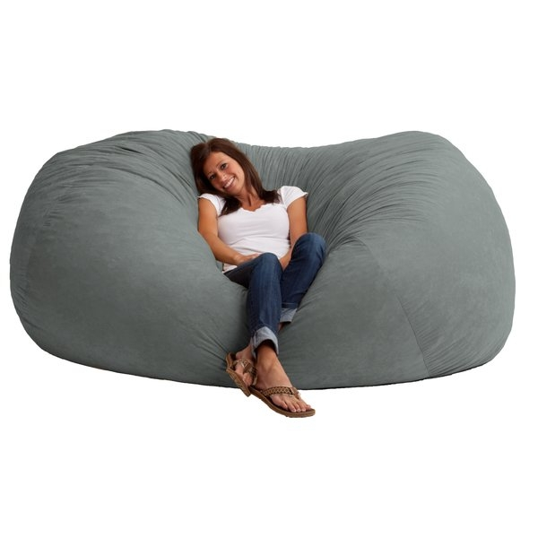 Comfort Research Fuf Bean Bag Sofa Reviews Wayfair nicely intended for Bean Bag Sofas and Chairs (Image 12 of 20)