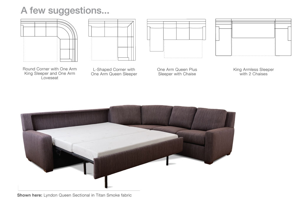 Comfort Sleeper Sectionals Endless Possibilities Scott Jordan very well throughout Sectional Sleeper Sofas With Chaise (Image 7 of 20)