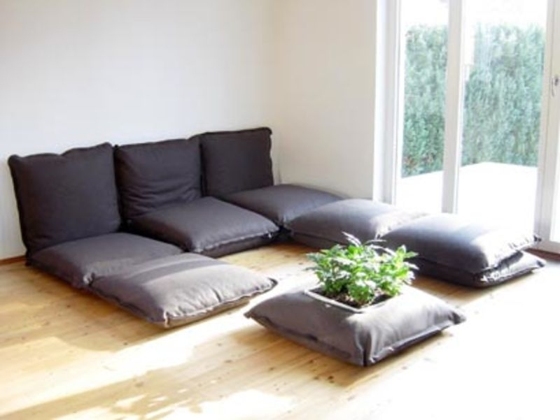 Comfortable Floor Cushion Seating Sofa With 5 Positions Adjustable very well with Floor Cushion Sofas (Image 10 of 20)
