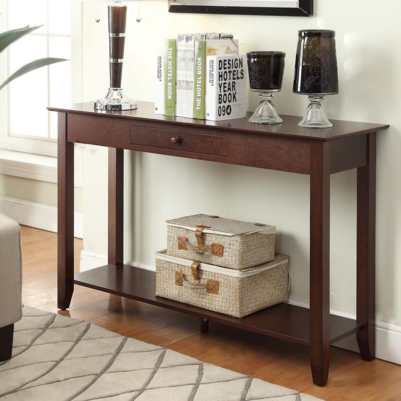 Console Sofa And Entryway Tables Youll Love Wayfair most certainly inside Sofa Table With Chairs (Image 9 of 20)