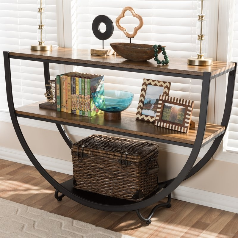 Console Sofa And Entryway Tables Youll Love Wayfair nicely intended for Sofa Table With Chairs (Image 10 of 20)