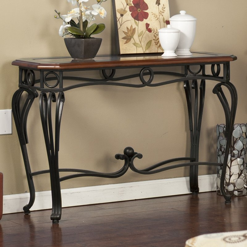 Console Sofa And Entryway Tables Youll Love Wayfair Perfectly With Regard To Sofa Table With Chairs (View 11 of 20)