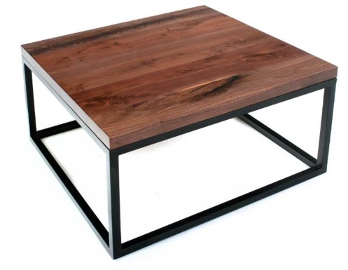 Contemporary Rustic Coffee Tables Live Edge Solid Wood Coffee very well inside Wood Modern Coffee Tables (Image 7 of 20)