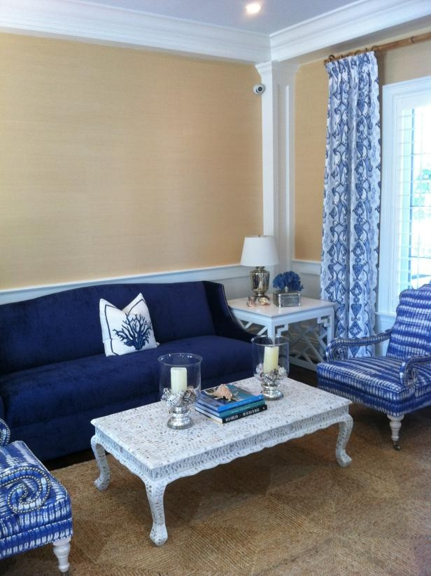 Cool Down Your Design With Blue Velvet Furniture Hgtvs effectively for Blue Sofa Chairs (Image 13 of 20)