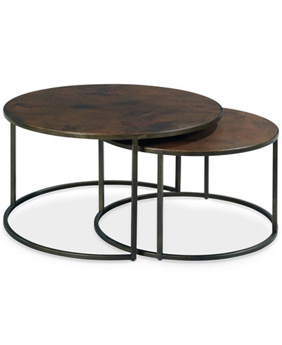 Copper Round 2 Piece Nesting Coffee Table Set Coffee Living Definitely Inside Stackable Coffee Tables (View 10 of 20)