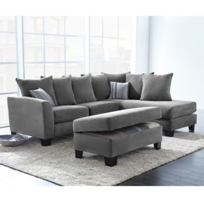 Corey Collection 2 Piece Sectional Sofa With Chaise Sears effectively within Craftsman Sectional Sofa (Image 10 of 20)