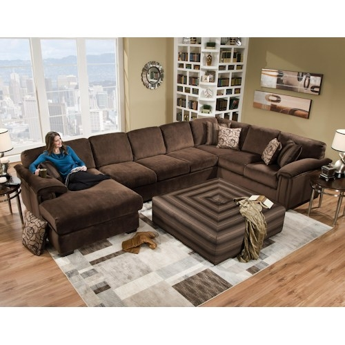Corinthian 6500 6 Seat Sectional Sofa Marlo Furniture Properly In Corinthian Sectional Sofas (View 8 of 20)