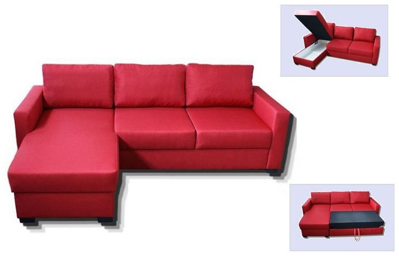Corner Sofa Bed Ikea Greey well with Red Sofa Beds IKEA (Image 7 of 20)