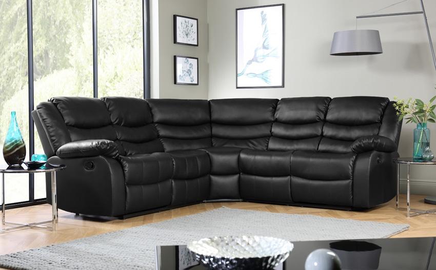 Corner Sofas Buy Corner Sofas Online Furniture Choice good within Large Black Leather Corner Sofas (Image 8 of 20)