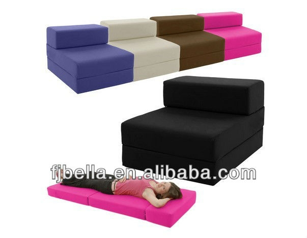 Cotton Single Chair Bed Z Guest Fold Out Futon Foam Sofa Chairbed nicely with Single Chair Sofa Bed (Image 6 of 20)