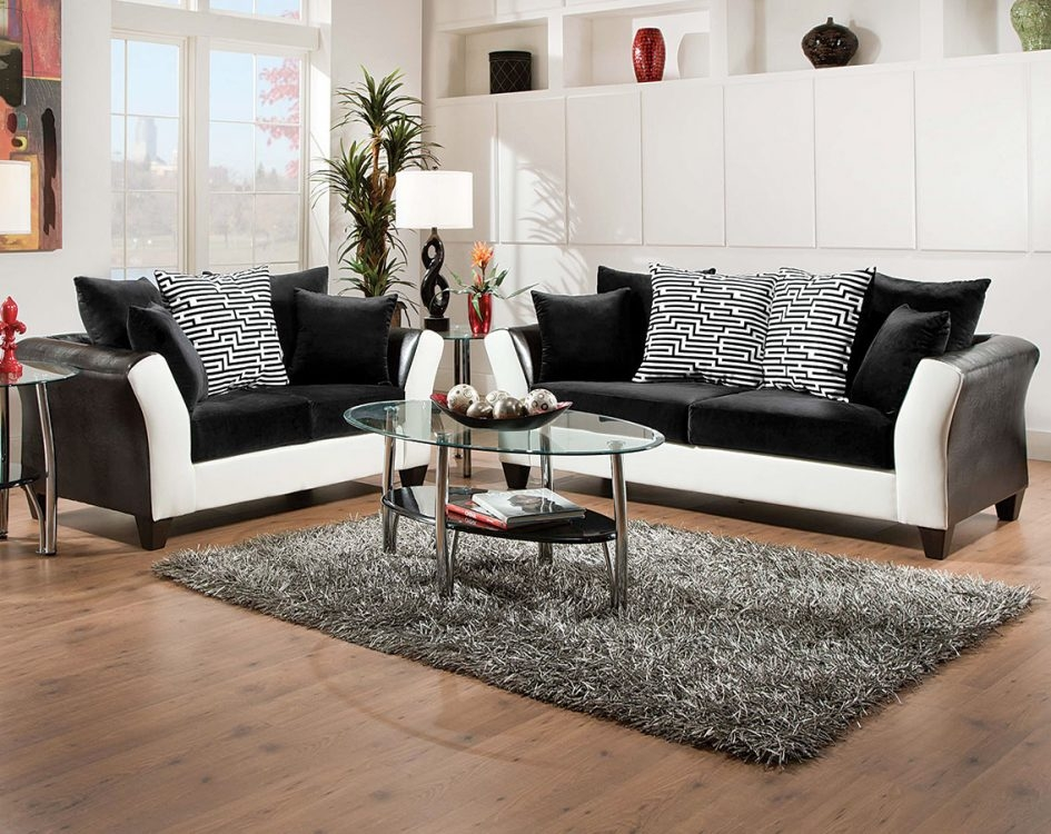 Couch And Loveseat Set Gray Foam Sofa Bed Oval Glass Coffee Table good throughout Oval Sofas (Image 3 of 20)