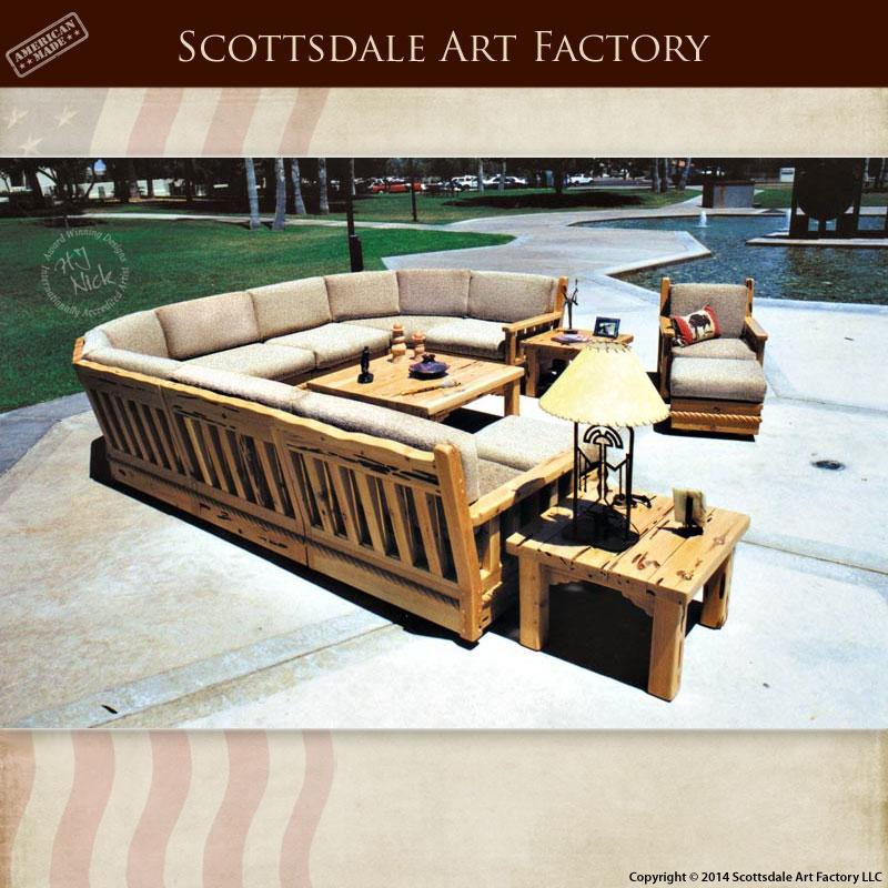 Craftsman Sofa Wood Framed Designed Greene Greene certainly throughout Craftsman Sectional Sofa (Image 12 of 20)