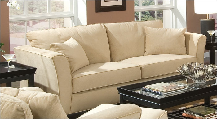 Cream Colored Products Park Place Sofa Set Cream Cream Of nicely pertaining to Cream Colored Sofas (Image 10 of 20)