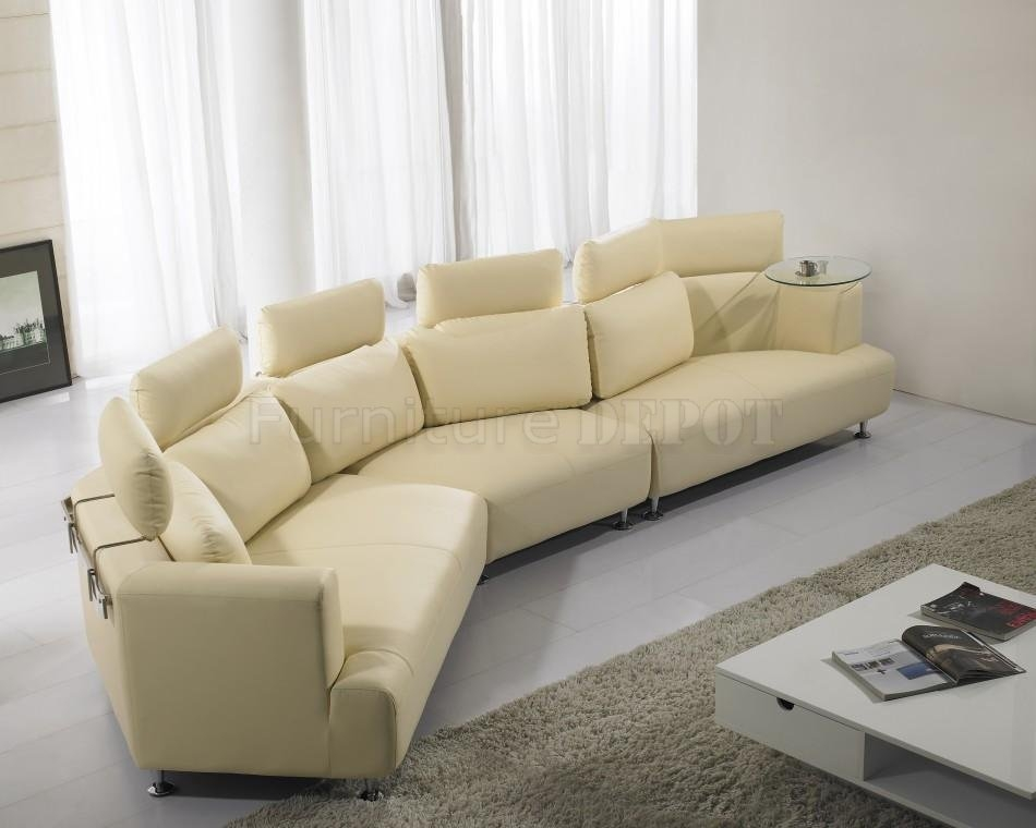 Cream Leather Sofas Very Well Regarding C Shaped Sectional Sofa (View 6 of 20)