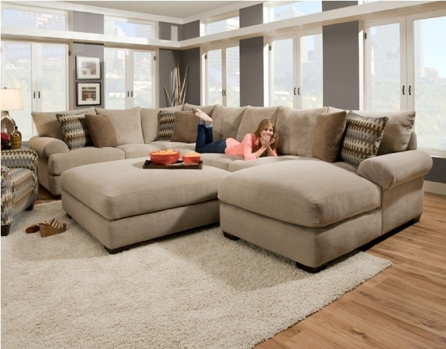 Cream Sectional Sofa Abson Living Juliette Fabric Sectional properly for Cream Colored Sofas (Image 13 of 20)