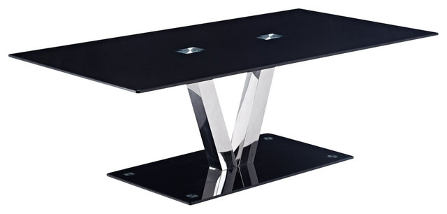 Creative Of Black Glass Coffee Table Black Glass And Chrome Coffee certainly regarding Unique Black Glass Coffee Table (Image 5 of 30)
