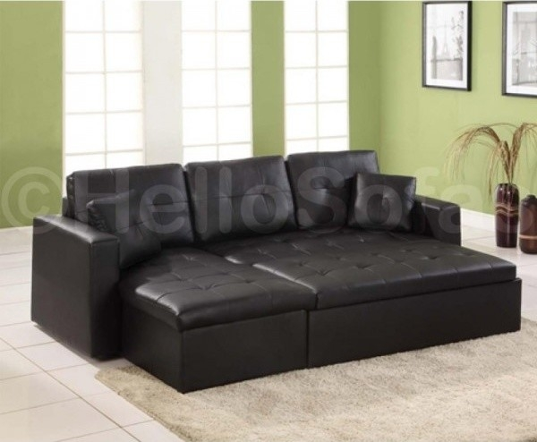 Creative Of Leather Sofa Bed With Storage With Deluxe Faux Leather clearly with Leather Sofa Beds With Storage (Image 8 of 20)