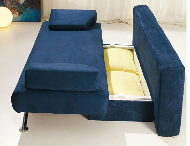 Croma Convertible Sofa Bed Blueyellow Esf Furniture Modern definitely inside Convertible Sofa Chair Bed (Image 14 of 20)