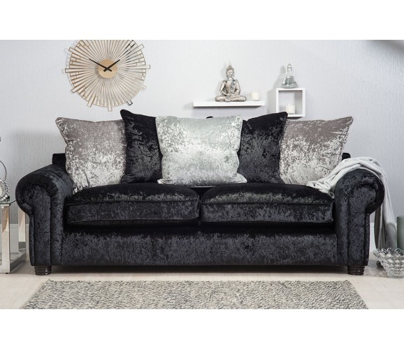 Crushed Velvet Sofas certainly with regard to Black Velvet Sofas (Image 10 of 20)
