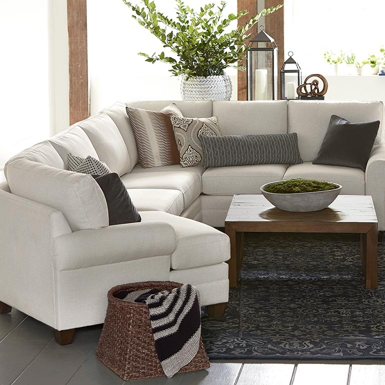 Cu2 Left Cuddler Sectional Sofa Bassett Home Furnishings good with regard to Bassett Sectional Sofa (Image 10 of 20)