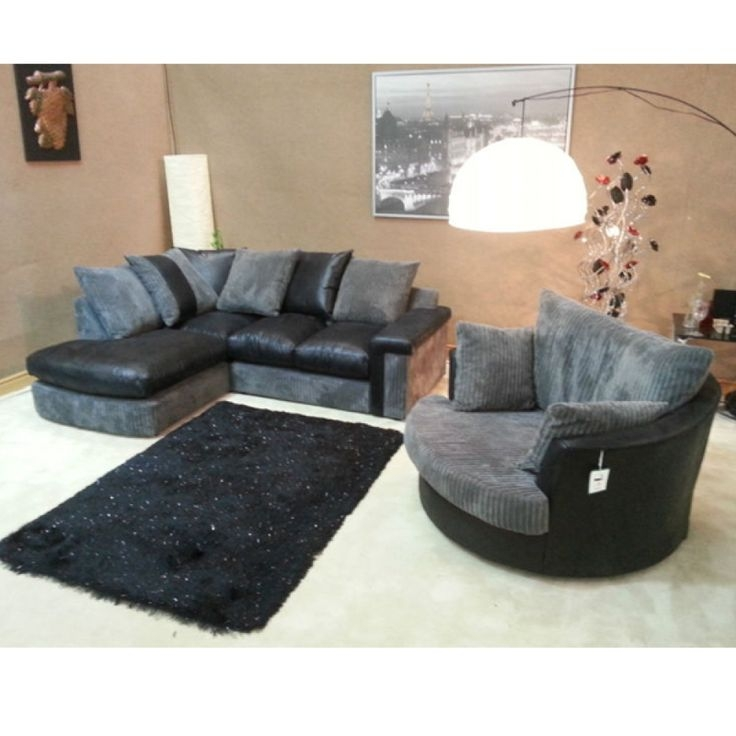 Cuddle Couch Verana Chaise Corner Sofa With Matching Swivel perfectly throughout Corner Sofa And Swivel Chairs (Image 10 of 20)