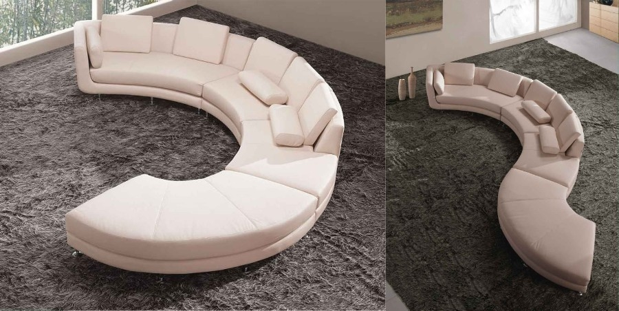 Popular Photo of Circle Sectional Sofa