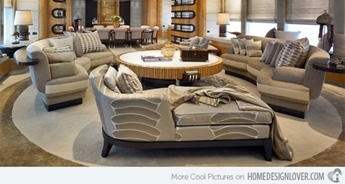Curved Sectional Sofas Classic Italian Furniture Interior Design definitely throughout Classic Sectional Sofas (Image 5 of 20)