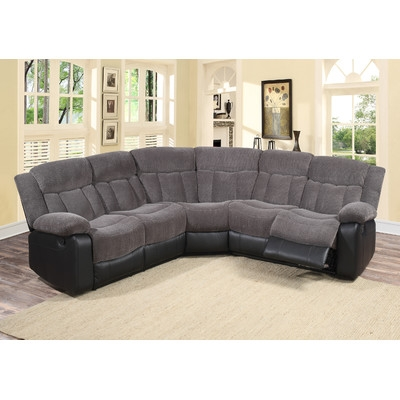 Curved Sectional Sofas Youll Love Wayfair Effectively Pertaining To Curved Sectional Sofa With Recliner (View 4 of 20)