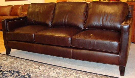 Custom Made Leather Furniture Leather More American Made very well regarding Classic Sofas for Sale (Image 7 of 20)