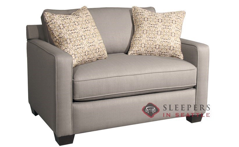Customize And Personalize Parker Twin Fabric Sofa Fairmont very well regarding Loveseat Twin Sleeper Sofas (Image 7 of 20)
