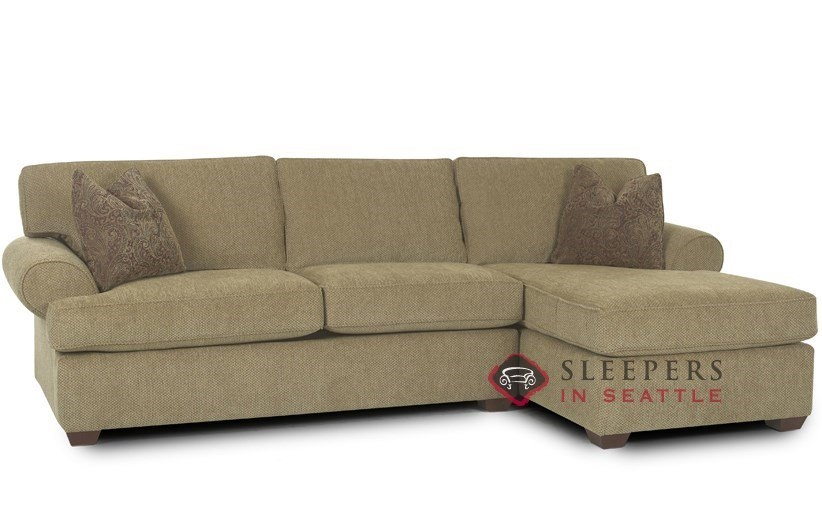 Customize And Personalize Tacoma Chaise Sectional Fabric Sofa well pertaining to Sectional Sleeper Sofas With Chaise (Image 11 of 20)