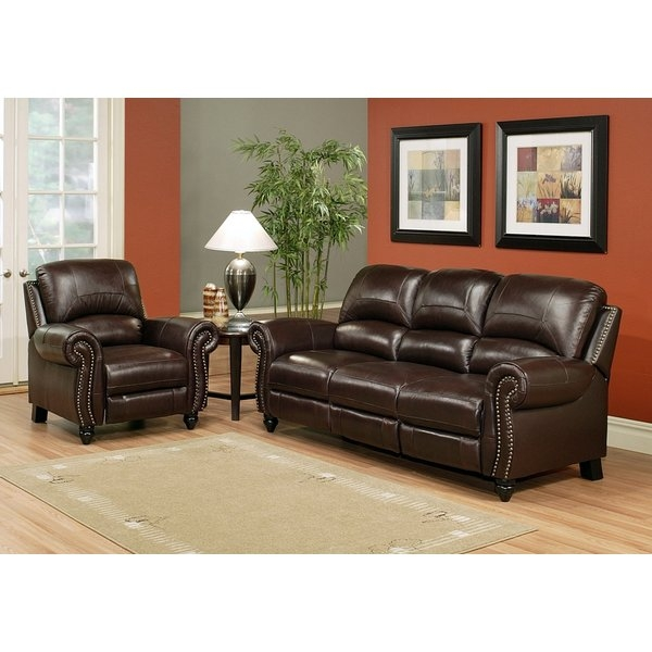 Dar Home Co Kahle Leather Reclining Sofa And Chair Set Reviews properly intended for Sofa and Chair Set (Image 13 of 20)