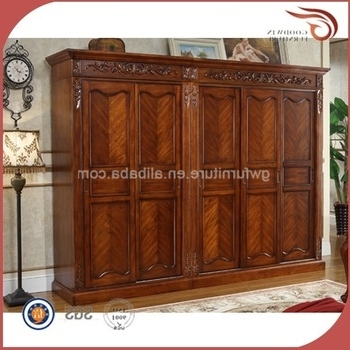 Dark Cherry Antique Solid Wood Wardrobe A126 Buy Antique Cherry most certainly throughout Solid Dark Wood Wardrobes (Image 14 of 30)