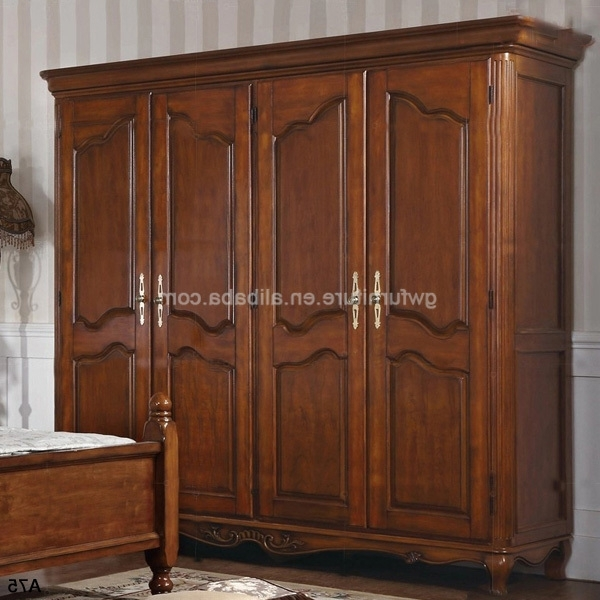 Dark Cherry Antique Solid Wood Wardrobe A126 Buy Antique Cherry nicely for Solid Dark Wood Wardrobes (Image 20 of 30)