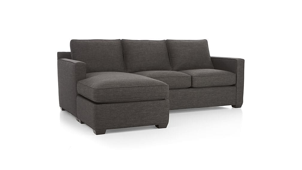 Davis Sectional Lounger Crate And Barrel certainly with regard to Compact Sectional Sofas (Image 4 of 20)