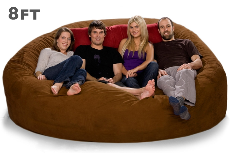 Dazzling Giant Bean Bag Chair Bagjpg101 Fonky properly with Bean Bag Sofas And Chairs (Image 16 of 20)