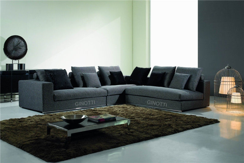 Decor L Shaped Sofa And Grey Corner Fabric Sofa Set L Shaped Sofas effectively pertaining to L Shaped Fabric Sofas (Image 4 of 20)